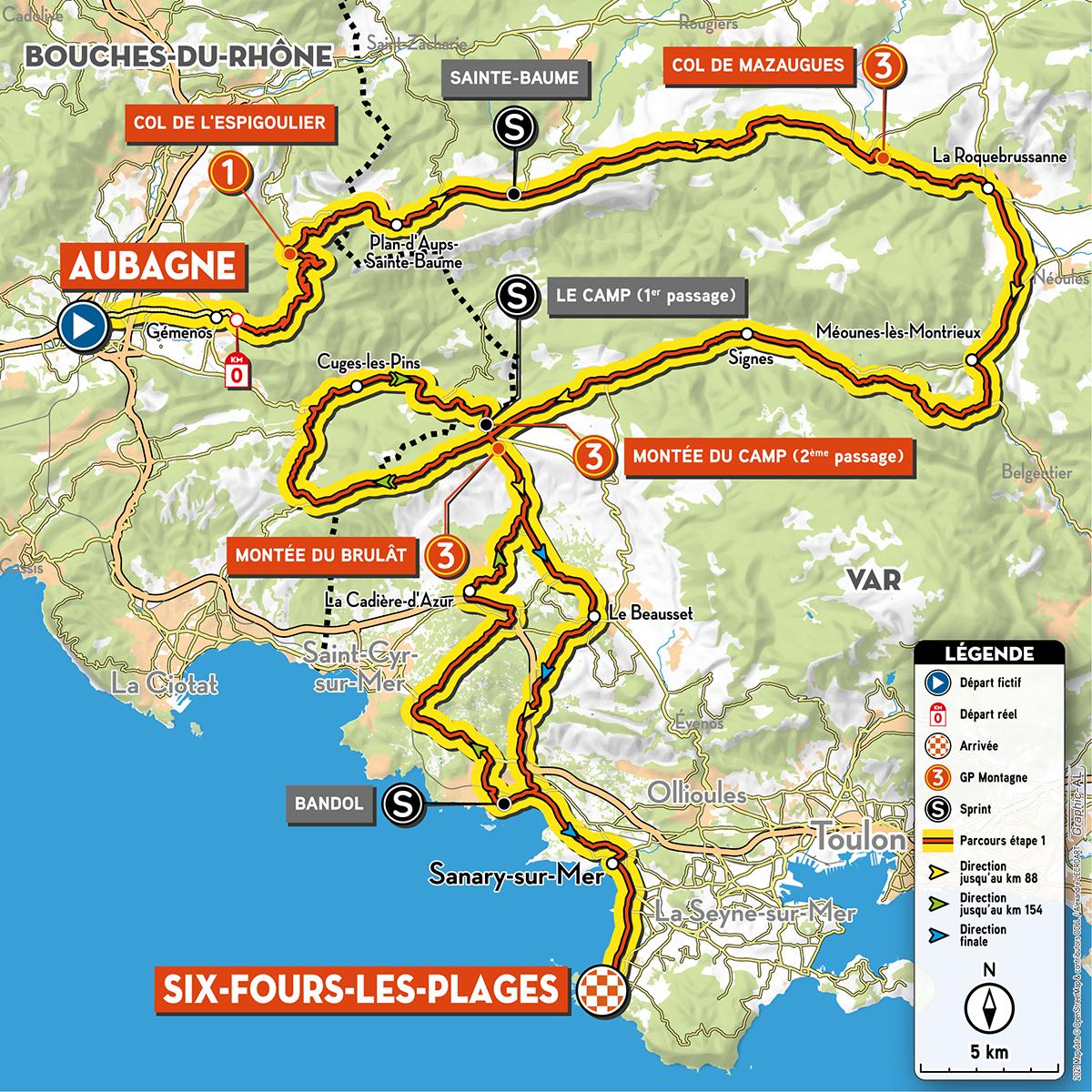 Race profile, Tour de la Provence